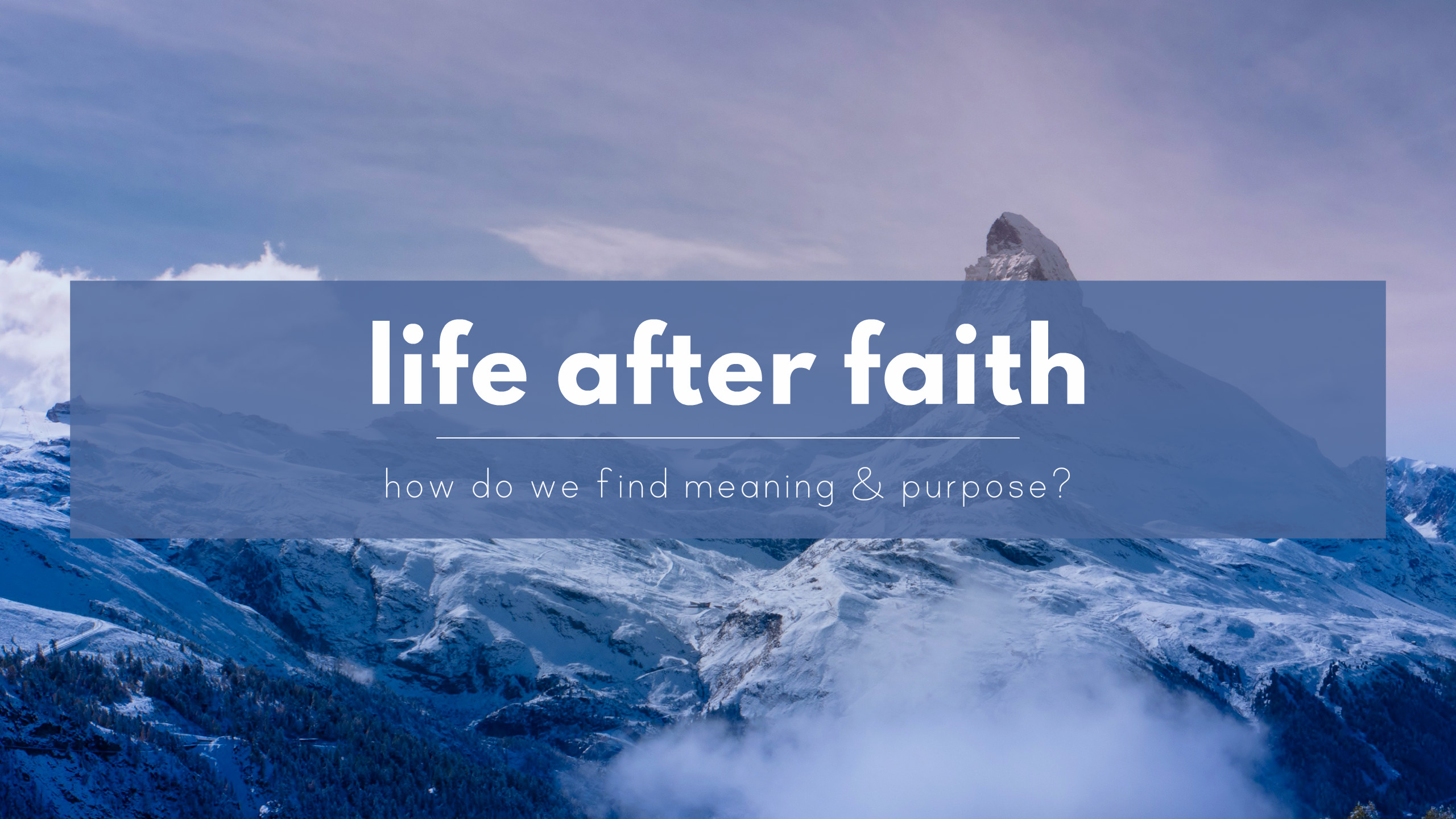Life after faith – How do atheists find meaning & purpose – The ...